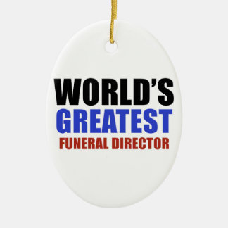 World's greatest funeral director ceramic oval decoration