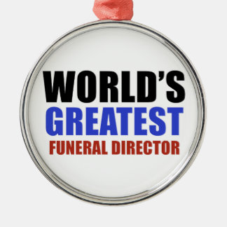 World's greatest funeral director Silver-Colored round decoration