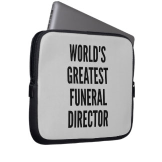 Worlds Greatest Funeral Director Laptop Sleeves