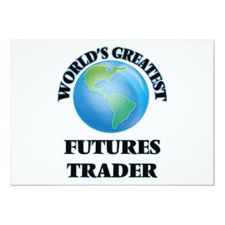 "World's Greatest Futures Trader 5"" X 7"" Invitation Card"