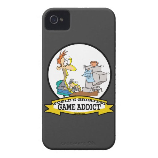 WORLDS GREATEST GAME ADDICT CARTOON BLACKBERRY BOLD CASES