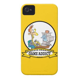 WORLDS GREATEST GAME ADDICT CARTOON iPhone 4 CASE