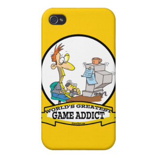 WORLDS GREATEST GAME ADDICT CARTOON iPhone 4/4S COVERS