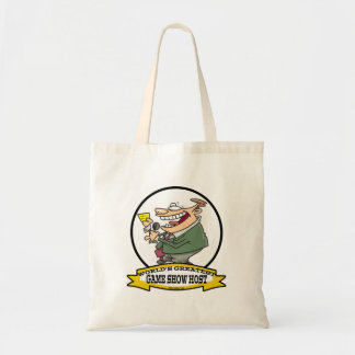 WORLDS GREATEST GAME SHOW HOST CARTOON BUDGET TOTE BAG