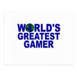 World's Greatest Gamer Postcards