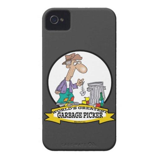 WORLDS GREATEST GARBAGE PICKER CARTOON Case-Mate iPhone 4 CASE