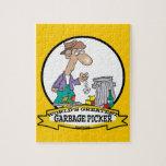 WORLDS GREATEST GARBAGE PICKER CARTOON PUZZLE