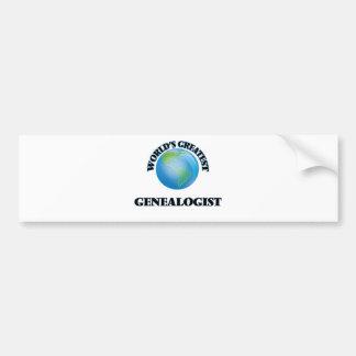 World's Greatest Genealogist Car Bumper Sticker