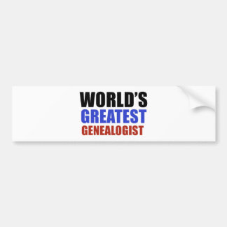World's greatest GENEALOGIST Bumper Sticker