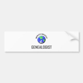 World's Greatest Genealogist Bumper Stickers