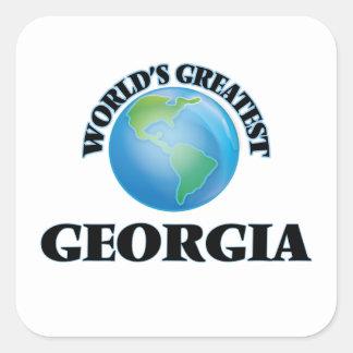 World's Greatest Georgia Square Stickers