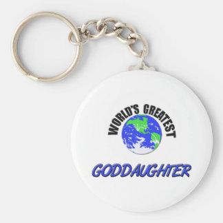 World's Greatest Goddaughter Basic Round Button Key Ring