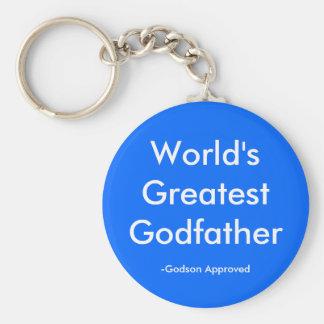 World's Greatest Godfather, -Godson Approved Key Ring