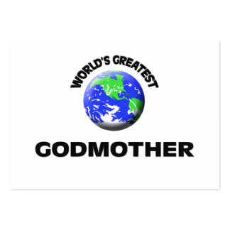 World's Greatest Godmother Business Card Template