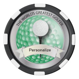 World's Greatest Golfer | DIY Name Poker Chips