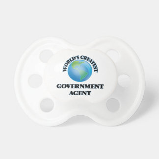 World's Greatest Government Agent Baby Pacifiers