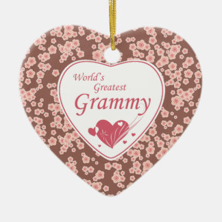 World's greatest grammy cherry blossoms ornament
