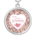 World's greatest grammy pink flowers necklace