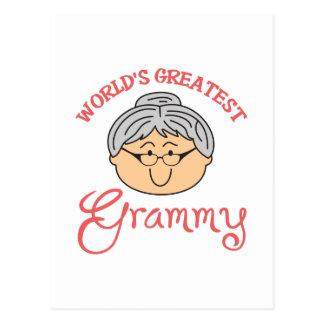 WORLDS GREATEST GRAMMY POSTCARD
