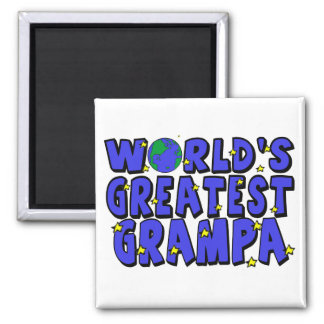 World's Greatest  Grampa Square Magnet