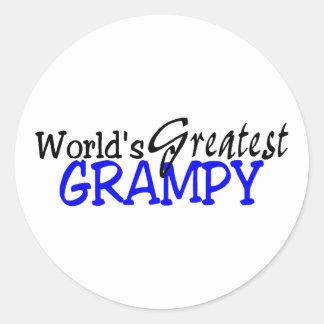 Worlds Greatest Grampy Blue Black Sticker