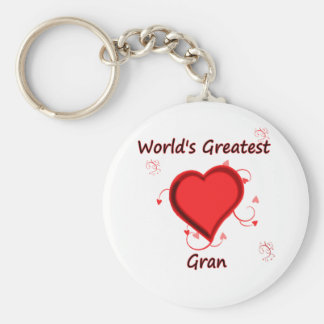 World's Greatest gran Basic Round Button Key Ring