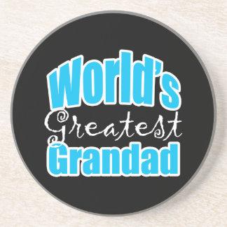 Worlds Greatest Grandad Beverage Coasters
