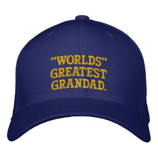 Worlds Greatest Grandad Embroidered Hat