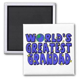 World's Greatest    Grandad Square Magnet