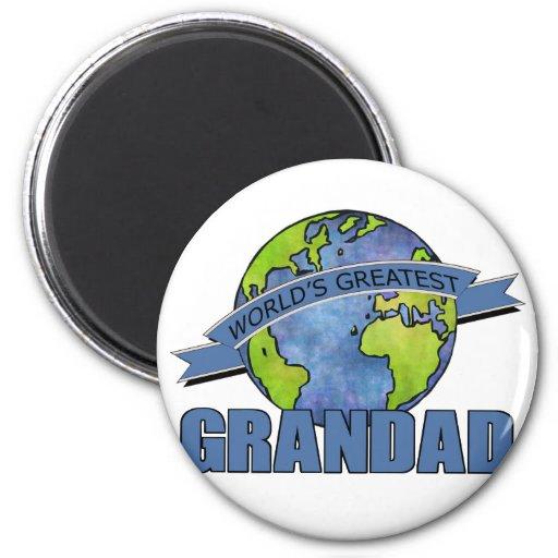 World's Greatest Grandad Refrigerator Magnet
