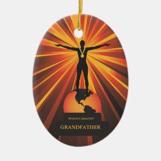 Worlds Greatest Grandather Golden Award Ornament