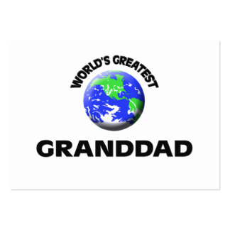 World's Greatest Granddad Business Card Template