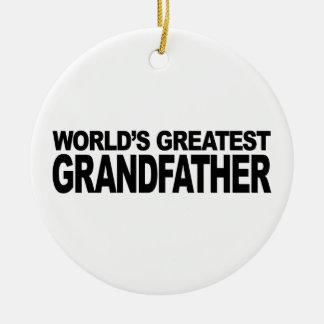 World's Greatest Grandfather Round Ceramic Decoration