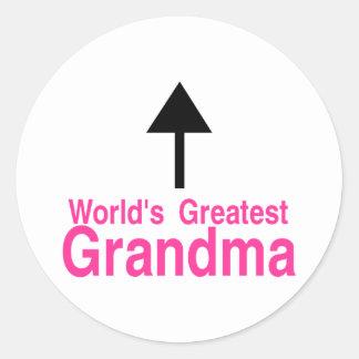 Worlds Greatest Grandma Arrow Sticker
