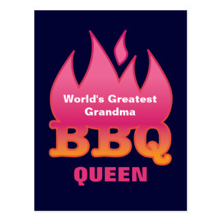 World's Greatest Grandma BBQ QUEEN Postcard