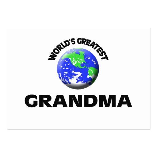 World's Greatest Grandma Business Card