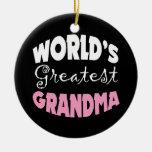 Worlds Greatest Grandma Christmas Ornament