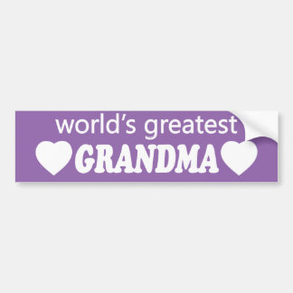 WORLDS GREATEST GRANDMA. CUSTOMIZABLE BACKGROUND BUMPER STICKER