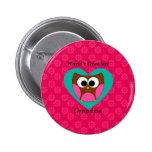 World's greatest grandma cute owl button
