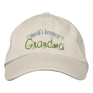 World's Greatest Grandma Embroidered Baseball Caps