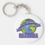World's Greatest Grandma Basic Round Button Key Ring
