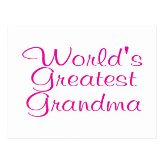 Worlds Greatest Grandma Postcard