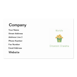 world's greatest grandma (yellow flowers) pack of standard business cards