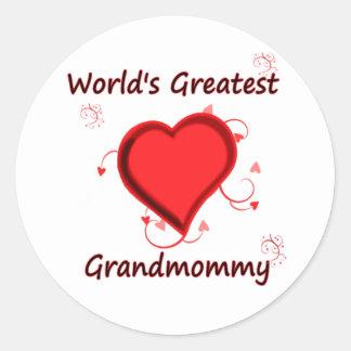 World's Greatest grandmommy Sticker
