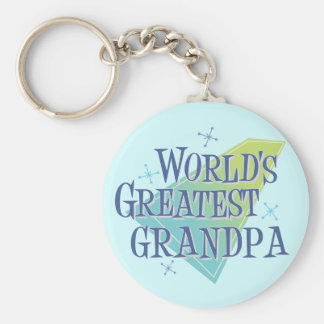 World's Greatest Grandpa Basic Round Button Key Ring