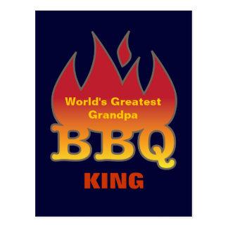 World's Greatest Grandpa BBQ KING Postcards