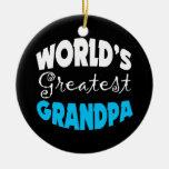 Worlds Greatest Grandpa Christmas Ornament