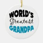 Worlds Greatest Grandpa Christmas Ornaments