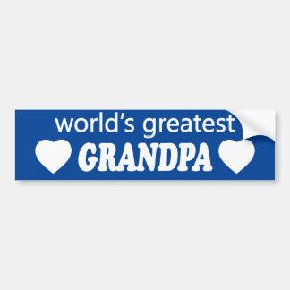 WORLDS GREATEST GRANDPA. CUSTOMIZABLE BACKGROUND BUMPER STICKER