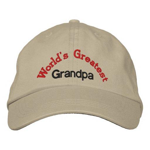 World's Greatest Grandpa Embroidered Hat